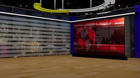 News TV Studio Set 203 - Virtual Background Loop Live Action