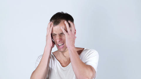shocked upset man getting bad news , Hacked account. , online gambling Footage