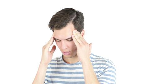 Serious man getting a headache Footage