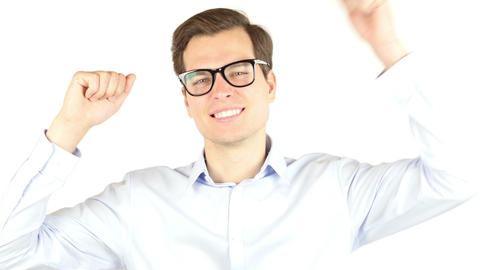 Winning, Success, Business. , businessman portrait Footage