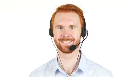 Portrait of customer service representative working Footage