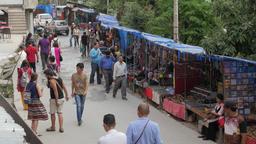 Souvenir stalls,McLeod Ganj,Himachal Pradesh,India Footage