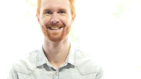 Smiling Man Portrait Footage