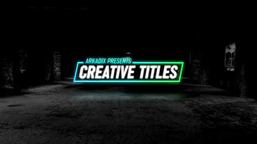 Creative Titles ME After Effects Template