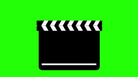Clapperboard On Green Chroma Key Animation