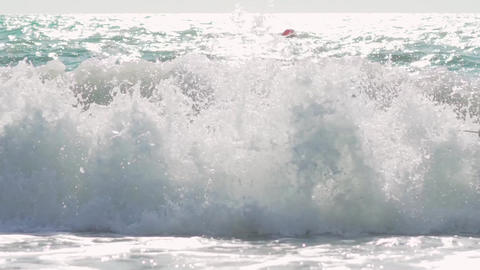 Extreme Wave crushing coast , Large Ocean Beautiful Wave, Awesome power of waves Live Action