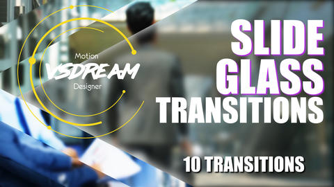 Slide Glass Transitions Plantillas de Premiere Pro
