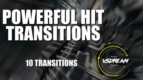Powerful Hit Transitions Premiere Pro Template