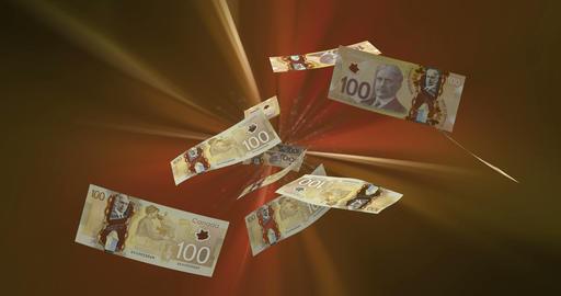 Flying Canadian Dollar Animation