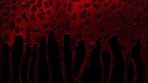 Blood Dripping down along the screen Animation