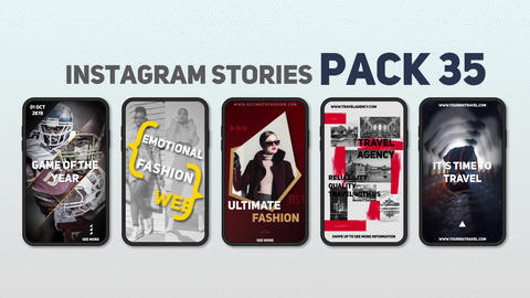 Instagram Stories Pack 35 After Effects Template