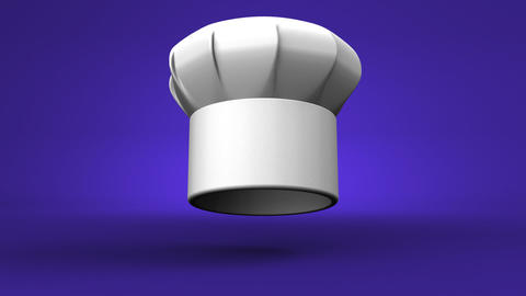 Chef's Hat With Three Stars On Blue Background Videos animados
