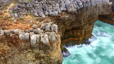 Beautiful nature and famous landmarks of Portugal - Boca do Inferno Live Action