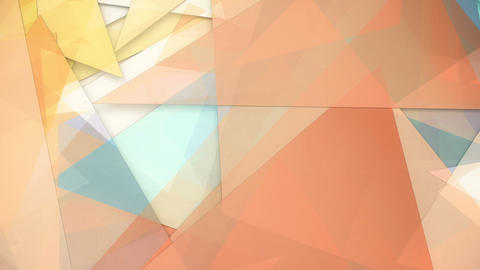 Rotating trasparent colorful triangles background loop Animation