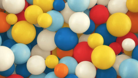 Colorful 3d falling spheres background CG動画