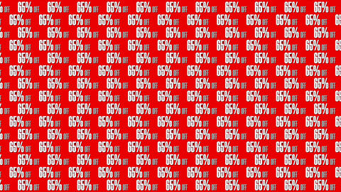 Minimal Background Pattern With 65 percents off Animation