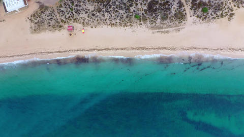 Flight over amazing sandy beaches at the ocean in paradise Footage