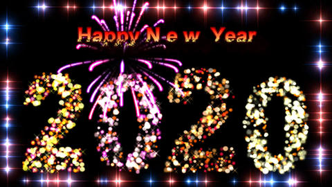 NEW YEAR celebration billboard Animation