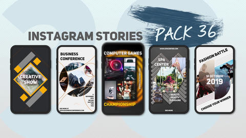 Instagram Stories Pack 36 After Effects Template