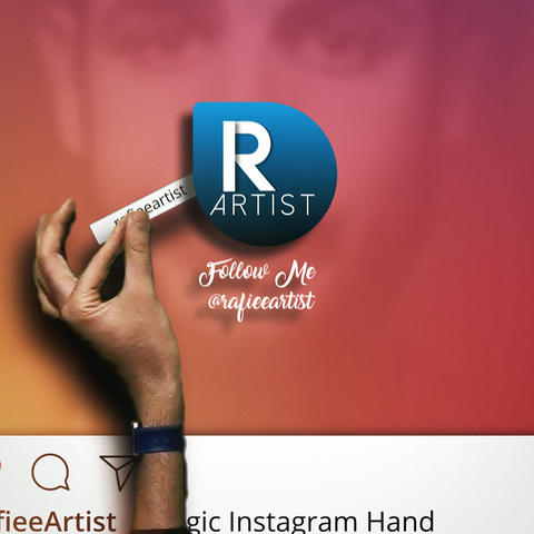 Magic Instagram Hand Logo Reveal Plantilla de After Effects