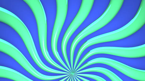 Abstract Green Wave On Blue Background Videos animados
