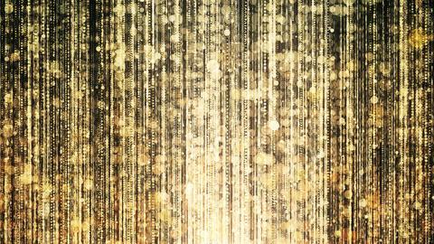 Gold Glitter Lights 01 4K 動画素材, ムービー映像素材