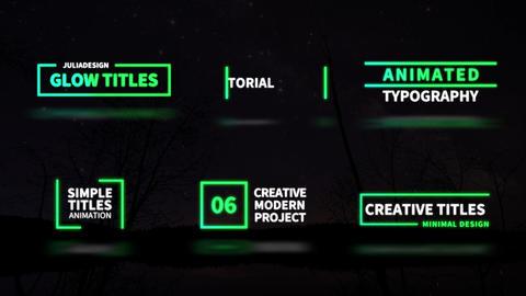 Glow Titles Plantillas de Motion Graphics