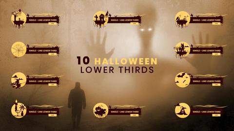 10 Halloween Lower Third Pack MOGRT 모션 그래픽 템플릿