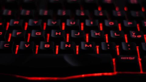 Backlit computer keyboard ライブ動画