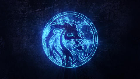 Blue Lion Intro Logo with Reveal Effect Background Videos animados