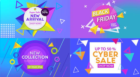 Sales Banner Pack Premiere Pro Template