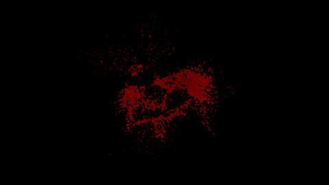 Blood Wall splatter 01 Animation