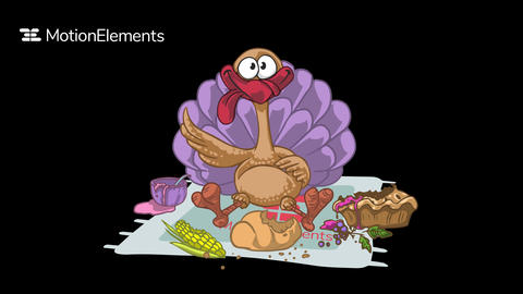 Thanksgiving day logo Plantilla de After Effects