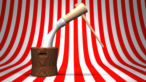 Loop Able Mochi Pounding On Red White Background Videos animados
