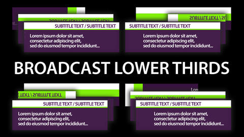 Broadcast Lower Thirds Motion Graphics Template