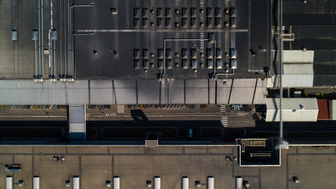 Factory Warehouse Roof Orthophoto Drone Shot Aerial Photo
