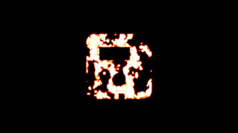 Symbol save burns out of transparency, then burns again. Alpha channel Premultiplied - Matted with Animation