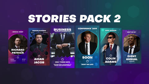 Stories Pack 2 Plantilla de After Effects