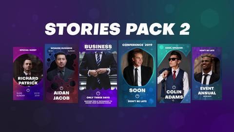 Stories Pack 2 Premiere Proテンプレート