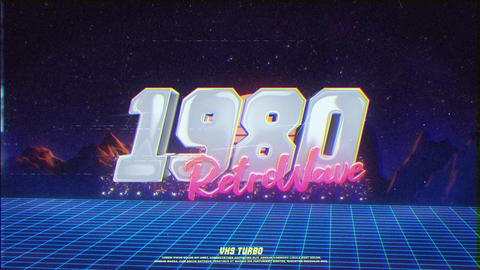 Retro Wave City Logo After Effects Template