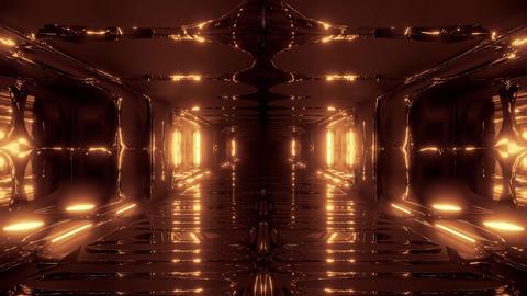 futuristic scifi fantasy alien hangar tunnel corridor 3d illustration with glass Animation