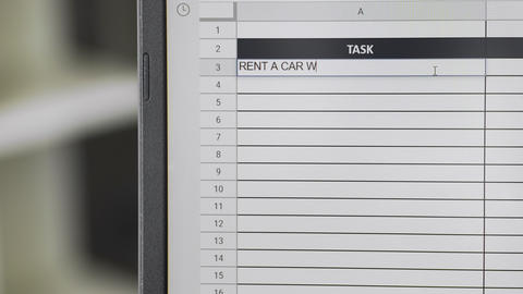 Person marking task RENT A CAR WITH DRIVER in online plan, to-do list ビデオ