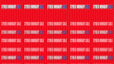 Text Animation With Message Cyber Monday Sale Loop 8K GIF