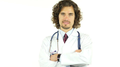 Portrait of Young Doctor Footage