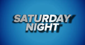 Dynamic Saturday Night Title Page Background Animation Footage