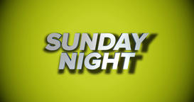 Dynamic Sunday Night Title Page Background Animation Footage