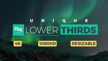 Unique Lower Thirds After Effects Template