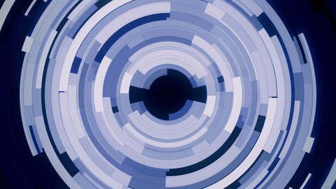Rotating complex blue slices circle background loop Animation