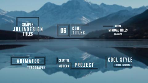 Simple Titles モーショングラフィックステンプレート