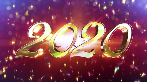 New Year 2020 New Year Animation Stock Video Footage